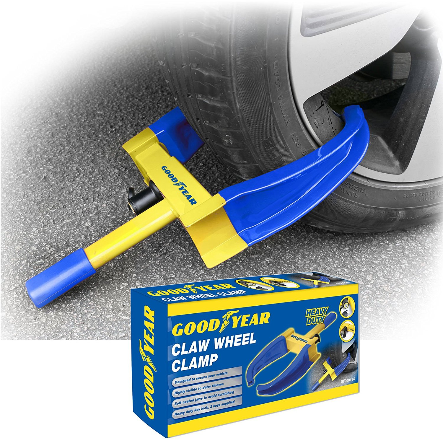 Goodyear wheel security clamp