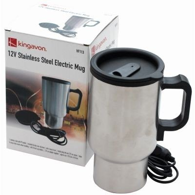 Kingavon Stainless Steel 12V Electric Mug