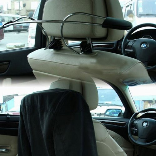 SODIAL (R) Car Headrest Clothes Coat Hanger In Car