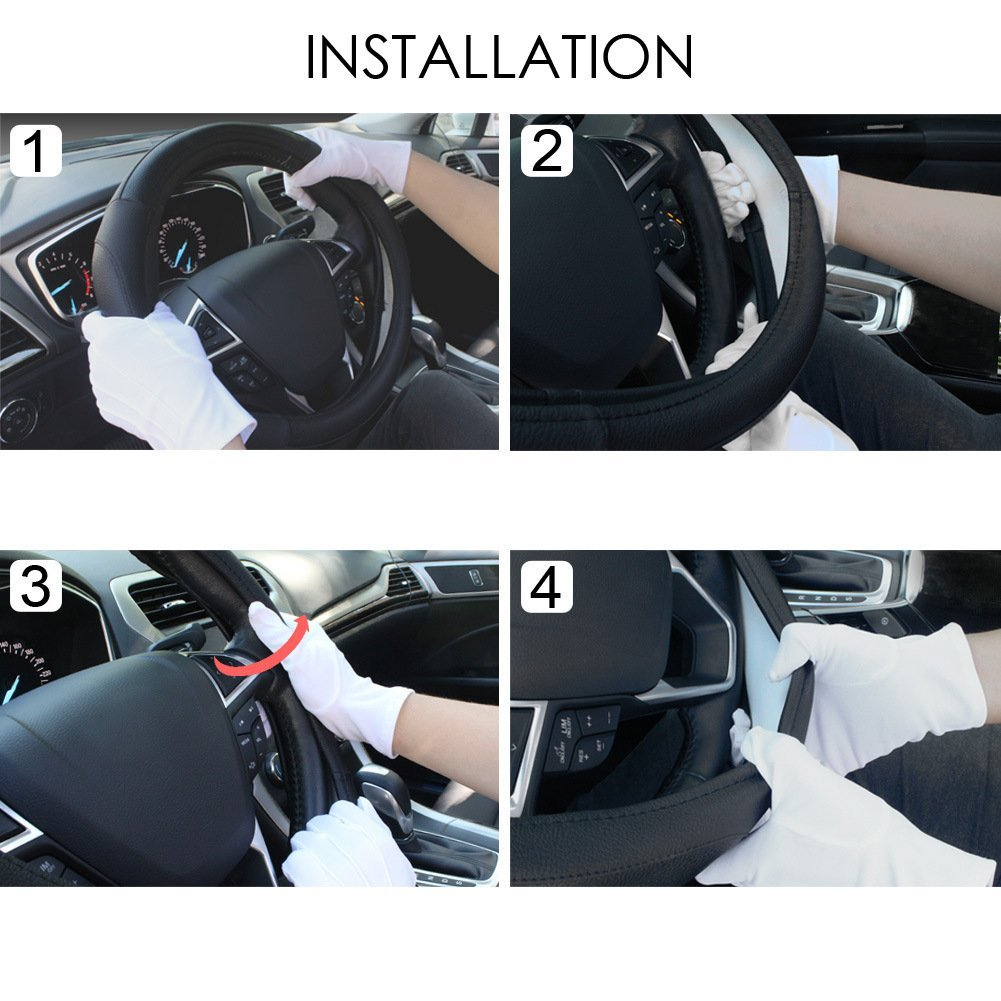 fitting a steering wheel cover to your steering wheel