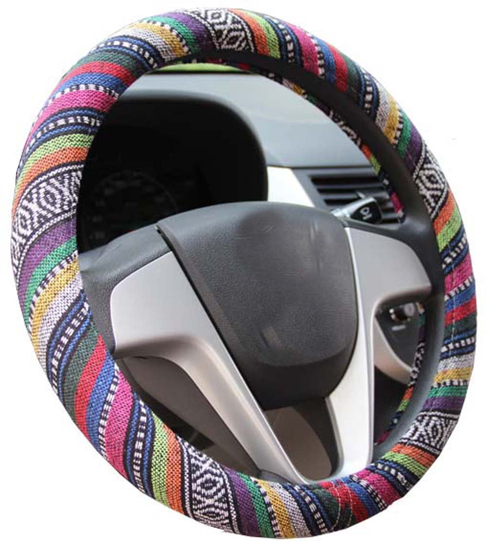 abstract colourful steering wheel cover