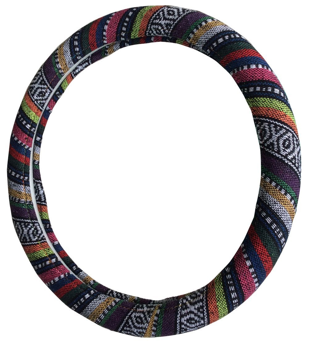 ethnic bright colourful steering wheel cover