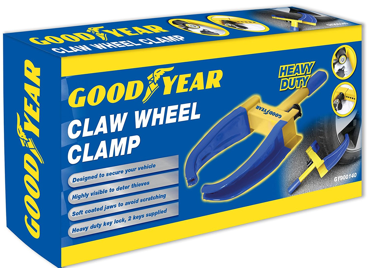 Goodyear wheel security clamp box