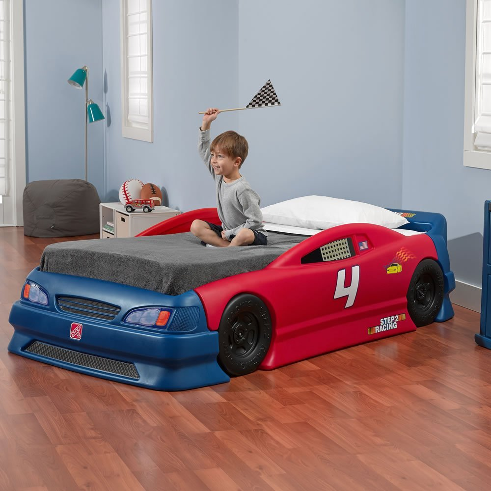 step2 car racing bed for kids
