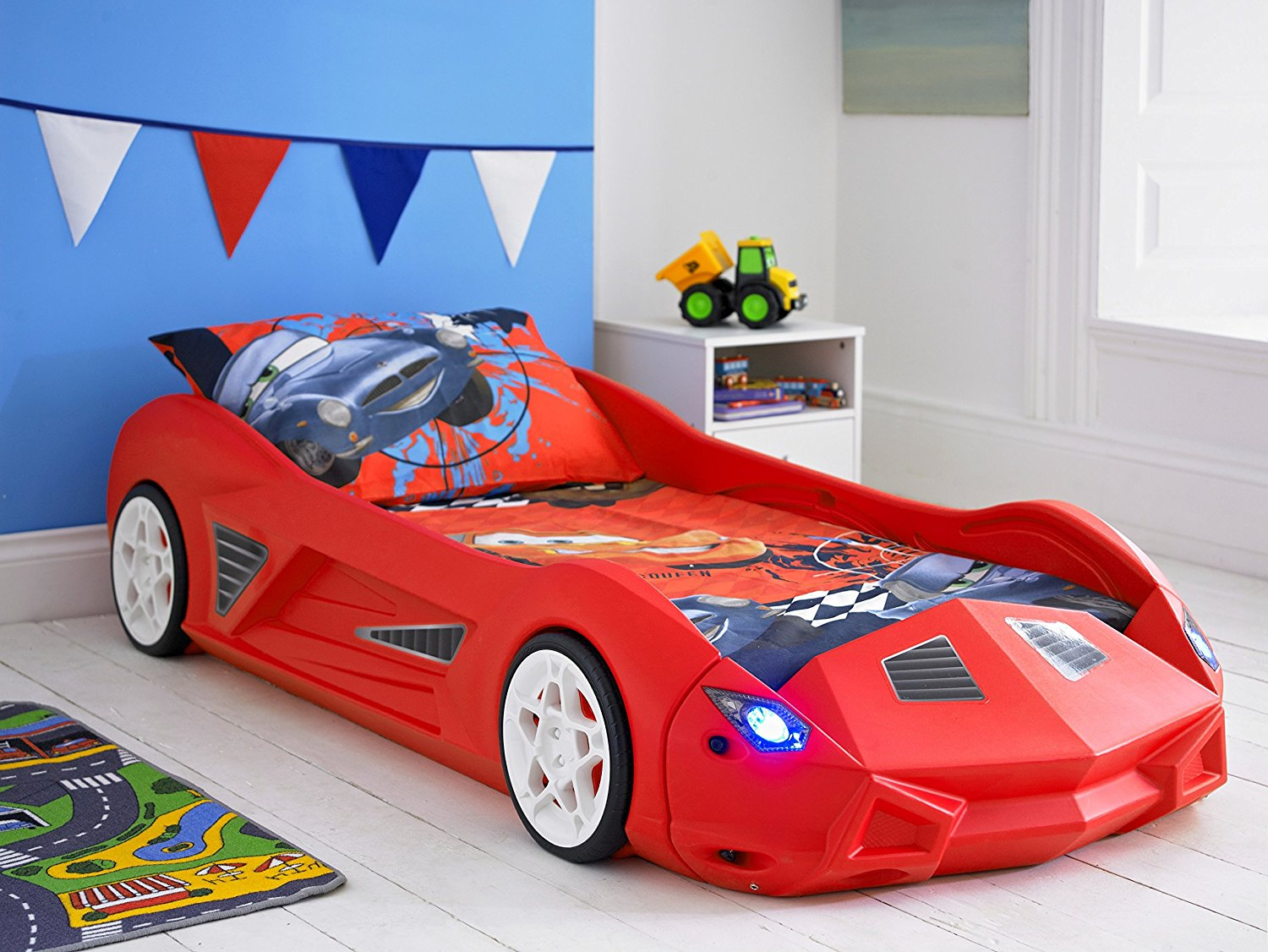 storm childrens racing car bed