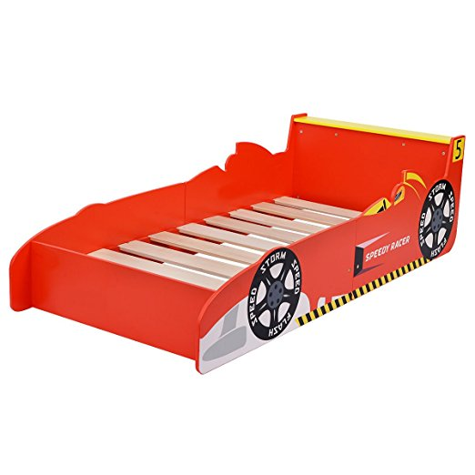 wooden racing car toddler bed