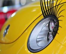 car eyelashes headlight